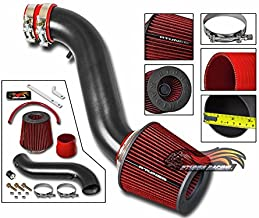 R&L racing MATT BLACK Short Ram Air Intake Kit + RED 05-08 FOR Magnum 06-10 Charger 08-10 Challenger/Chrysler 300 3.5L V6