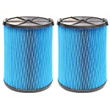 2 Pack VF5000 Replacement Filter for Ridgid Shop Vac 6-20 Gallon Wet Dry Vacuums, 3 Layer Pleated Vacuum Filter Fits for WD1450 WD0970 WD1270 WD06700 WD1680 RV2400A