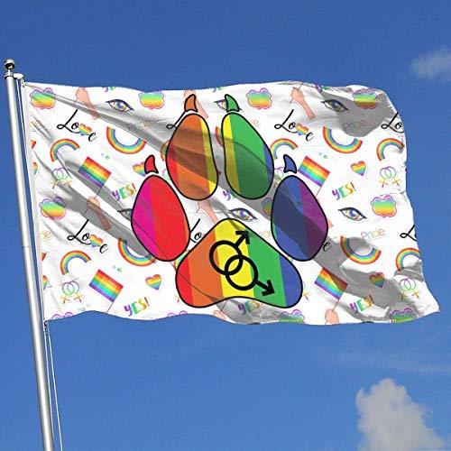 N / A Bandera Militar,Bandera De Decoración De Jardín,Bandera De Origen,3X5 Ft,Bandera Brisa,Banderas Al Aire Libre,Banderas De Jardín,Orgullo Peludo Gay