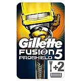 Gillette Fusion Proshield Technologie Flexball Rasoir Homme + 2 Lames de Recharges [OFFICIEL]