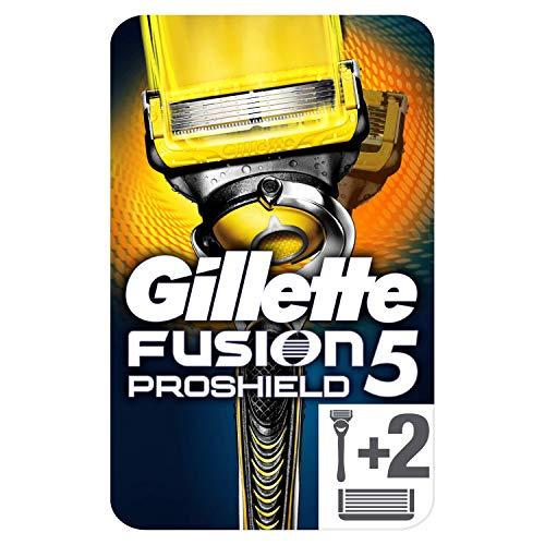 Gillette Fusion5 Proshield Technologie Flexball Rasoir Homme + 3 Lames de Rasoir [OFFICIEL], Rasoir...