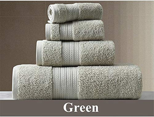 Heliansheng Toalla de baño de algodón Puro Toalla de baño súper Absorbente Juego de Toallas de baño Grandes y Gruesas para Adultos -verde-33x33cm
