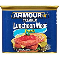 Includes twelve (12) 12-ounce cans of Armour Star Luncheon Meat Made with pork, enjoy this canned meat on crackers, burgers and breakfast sandwiches Delicious and convenient, this lunch meat is great for picnics, camping and road trips Make any time ...