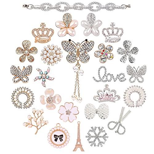 25 Piezas De Amuletos De Zapatos Para Mujeres Con Zuecos, Decoración De Zapatos De Bricolaje, Amuletos De Diamantes De Cristal A La Moda Para Mujeres, Niñas, Niños, Fiesta De Regalos De Cumpleaños
