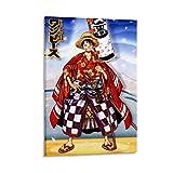 Póster de una pieza de Eiichiro Oda anime y póster de pared moderno para decoración de dormitorio familiar, 50 x 75 cm
