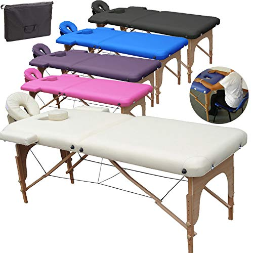 Beltom Table de Massage 2 Zones Portables Cosmetique lit...