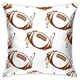 shenguang taie d'oreiller Square, Rugby Ball Seamless Short Plush Cushion Cover, Soft Decorative Pillow Covers for Sofa Bedroom Car 18'X18'