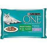 Purina ONE comida húmeda para gato Indoor filetes en salsa 12 x [4 x 85 g]
