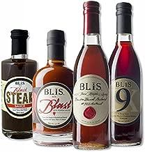 BLiS Bourbon Barrel Aged Variety Pack - Bourbon Barrel Aged Maple Syrup [375ml] - Blast Hot Sauce [375ml] - Blast Steak Sauce [250 ml] - #9 Sherry Vinegar [375ml]