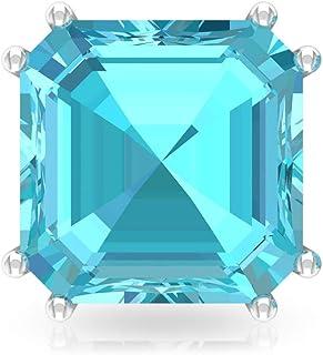 4.2 Ct Blue Topaz Swiss Stud Earring, Bridesmaid Wedding Earring, SGL Certified Asscher Shape Birthstone Earring, Solitaire Statement Earring, Screw Back