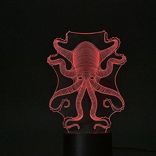 Lampa z złudzeniem optycznym 3D, dotykowa lampa LED na biurko, 7 zmieniających się kolorów, ładowarka USB, włącznik dotykowy, na biurko, lampka nocna do prezentu