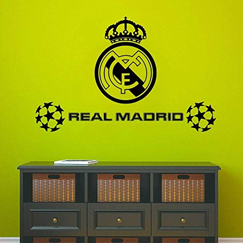 Hot Real Madrid Wall Stickers Autoadhesivo Art Wallpaper para habitaciones de niños Sticker Mural 43 * 67Cm