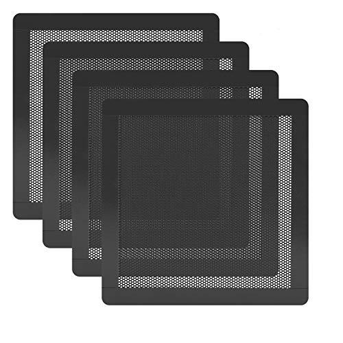 HFEIX 140MM PC Fan Dust Filter Computer Case Fan Magnetic Frame Dust Filter Fine PVC Mesh,Length 5.51 x 5.51 inches Black -4Pack