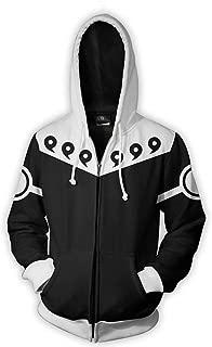 Men 3D Printed Naruto Hoodie Zip/Pullover Anime Thin Hooded Sweatshirt