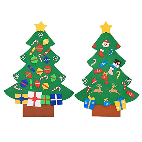 Christmas Tree Decoration,DIY Christmas Tree Set with Ornaments for Kids Xmas Gifts Door Wall Hanging