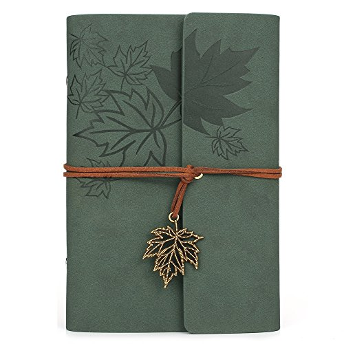 Leather Writing Journal Notebook, MALEDEN Classic Spiral Bound...