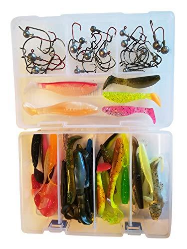 5x Twister 8cm in 8 Farben Gummifisch Drop Shot Zander Barsch Hecht