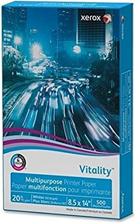Xerox 3R02051 Vitality Multipurpose Printer Paper, 8 1/2 x 14, White, 500 Sheets/RM