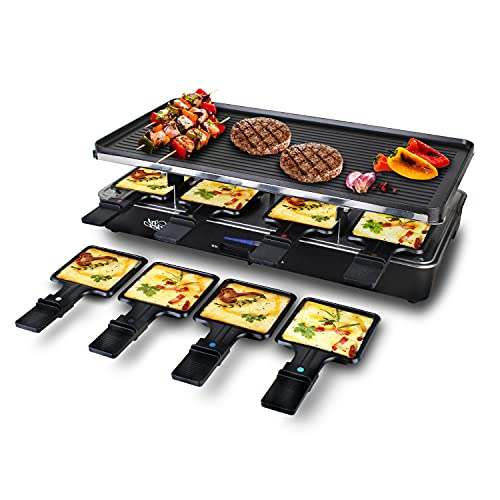 Artestia Raclette Table Grill, 1200W Electric Table Grill with Natural...