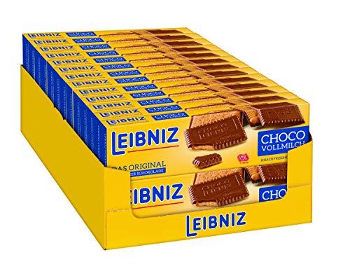 LEIBNIZ Choco Vollmilch Keks - 26er Pack - Vorratsbox - Butterkeks mit Vollmilchschokolade überzogen - Knackfrisch (26 x 125 g)
