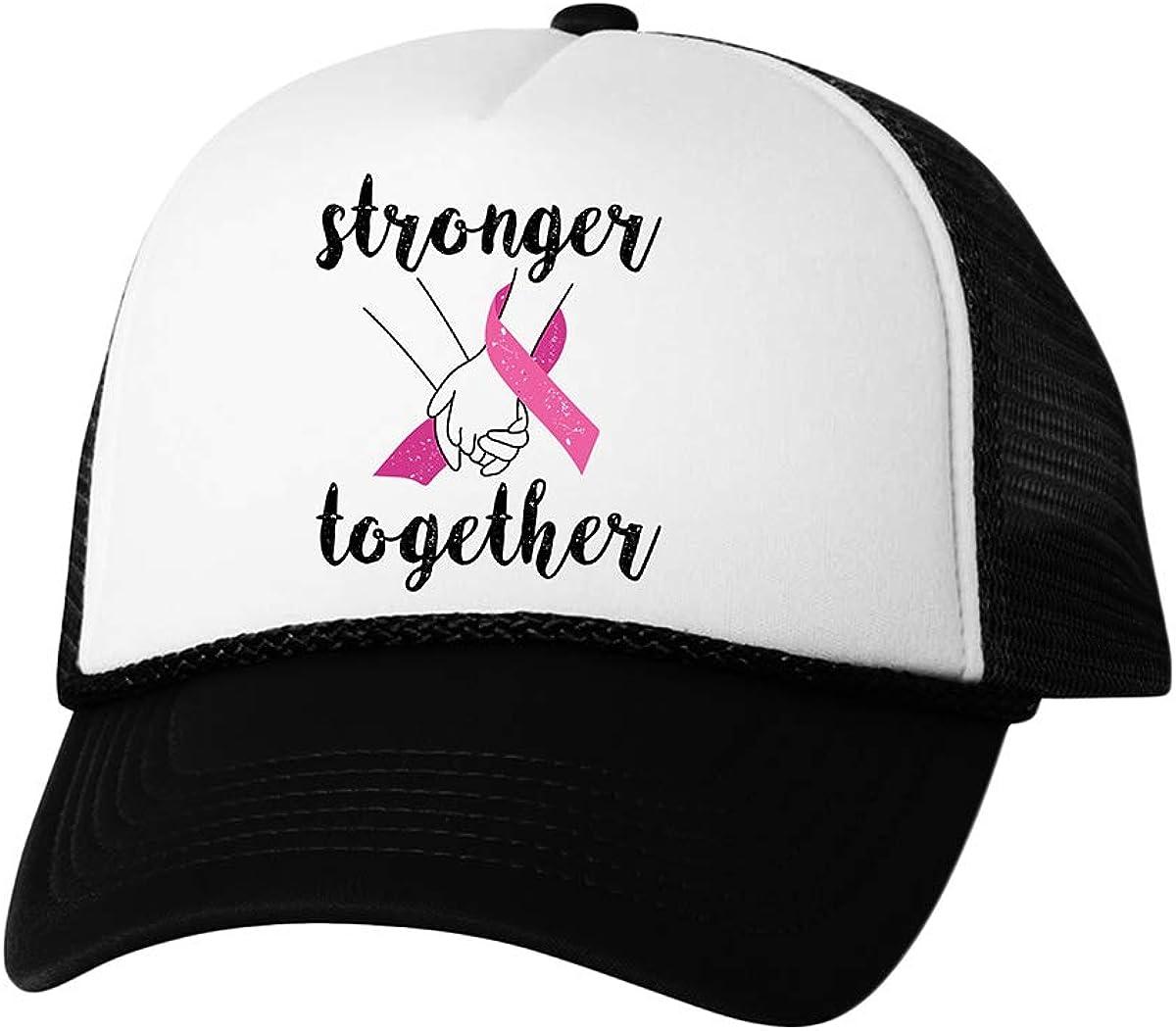 Awkward Styles Cancer Awareness Hat Breast Cancer Stronger Together Black Support Hat Set of 6 12 24