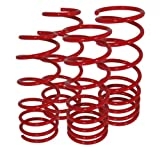 camaro lowering - AJP Distributors Suspension Racing Coil Drop Lower Lowering Sport Spring Kit Red For Chevy Chevrolet Camaro V8 SS ZL1 6.2L 2010 2011 2012 2013 2014 2015 10 11 12 13 14 15