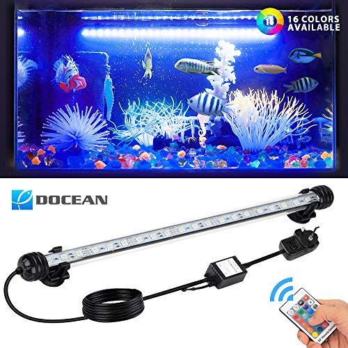 DOCEAN LED Aquarium Lights, Multi-color Waterproof Fish Tank Light RGB...