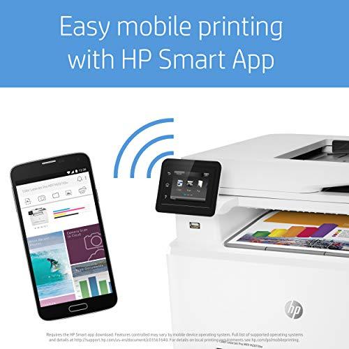 HP Color Laserjet Pro MFP M281fdw – Impresora multifunción láser (WiFi, fax, copiar, escanear, imprimir en color, 21ppm), color blanco