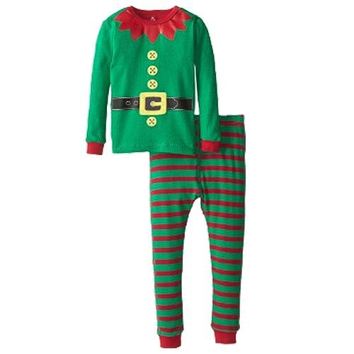 1d292f0b47 LUKYCILD Baby Girl Boy Homewear Christmas Costume Kids Set Green 120