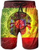Hombre Verano España Bandera Vinyl Record Secado rápido Running Swim Trunks Boader Shorts Beach Swimsuit Sports