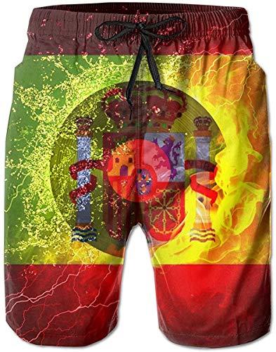 Love girl Herren Sommer Spanien Flagge Vinyl Rekord Schnell trocknende Badehose Boader Shorts Strand Badeanzug Sport