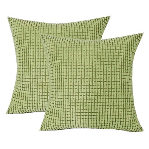 Toruiwa. 2pcs Cushion Covers 65x65cm Corduroy Corn Decorative Square Pillow Cover Cushion Case For Sofa Bedroom
