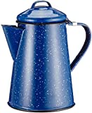 GSI Outdoors 6 Cup Coffee Pot for Storing Hot Coffee, Tea and Water While Camping, Blue
