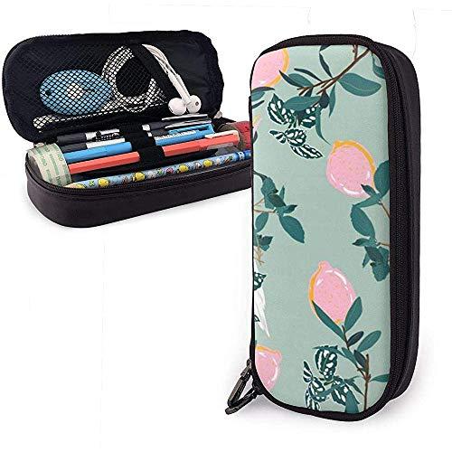Estuche de lápices Patrón de loro Bolsas de almacenamiento de bolsas de cuero de PU Bolsas de lápices portátiles Bolsas con cremallera