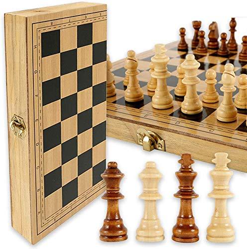 Maalr Juego de ajedrez, ajedrez internacional profesional, plegable, juego de mesa, juguetes educativos para adultos y niños (29 x 29 cm, no magnético)