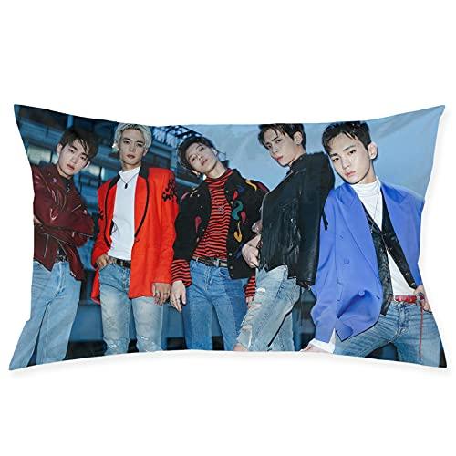 Shinee K-POP - Funda de almohada coreana de fácil cuidado, lavable a máquina, 50,8 x 76,2 cm