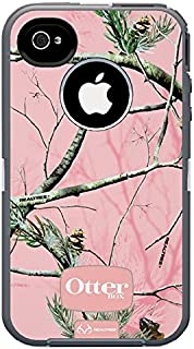 Otterbox Defender Realtree Series Hybrid Case & Holster for iPhone 4 & 4S - Retail Packaging - Pink/APC Camo Pattern (Disc...