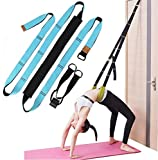 KimDaro Multi-Purpose Waist Exercise Band - Waist Back Bend Assist Trainer Flexibility & Yoga Stretching Leg Stretcher Strap w/Door Anchor for Dance Gymnastics Training Fitness (Blue)