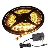 LEDテープ LEDテープライト SMD3528 100V 5m 12V入力 電球色(GT-SET3528WW-IP44-2A)防滴タイプ 間接照明