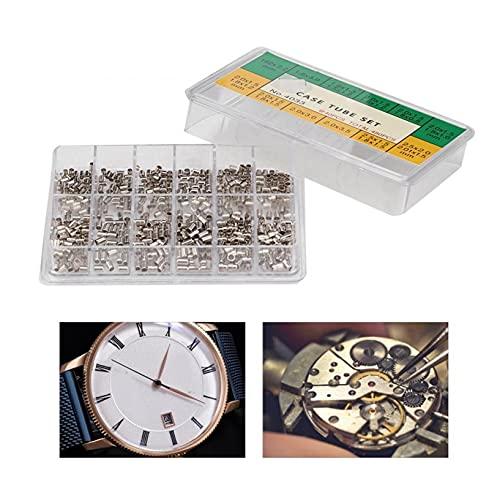 XIAOFANG 12 tamaños Tubos de la Caja del Reloj Tubos de Tubo para la Corona Impermeable Surtido de Metal Reloj de Metal Parte de la Corona Reparación de la Herramienta Accesorio para relojero