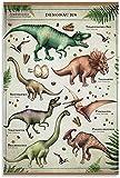 YWCMDH Laminas para Cuadros Poster de Dinosaurio Pintura Decorativa Lienzo Arte de la Pared Poster Pintura50x70cm x1 Sin Marco
