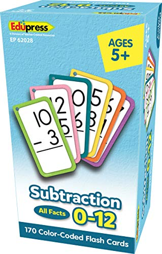 Teacher Created Resources Subtraction Flash Cards - All Facts 0–12 (EP62028)