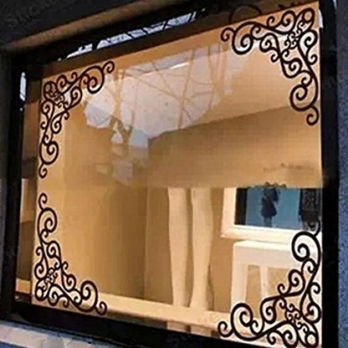 4Pcs/Sheet Elegant Removable Corner Onlay Applique Frame Furniture Wall Mirror Window Stickers -
