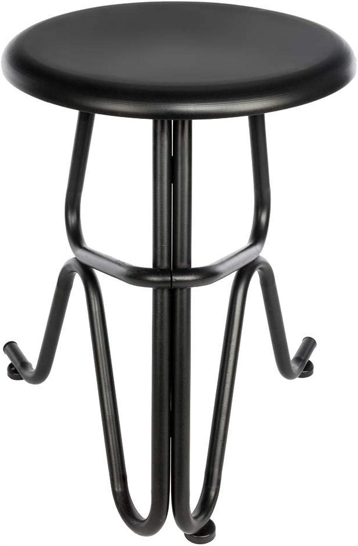 KeGE Creative Human Shaped Non-Foldable Round Iron Stool Black