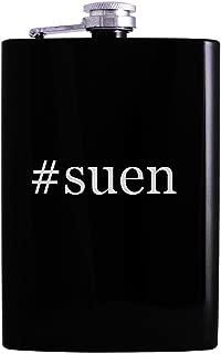 #suen - 8oz Hashtag Hip Alcohol Drinking Flask, Black