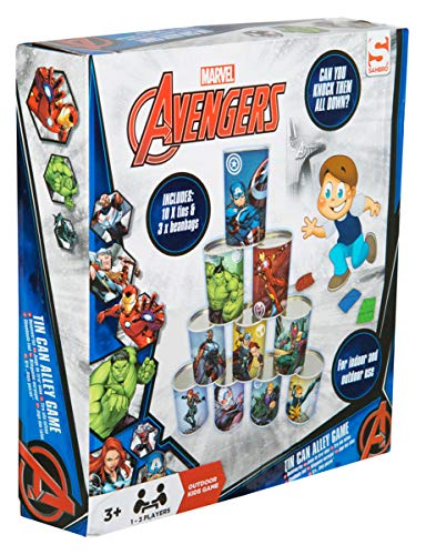 Remarkable Avengers Alley Indoor And Outdoor Use 10 Tin Cans And 3 Bean Bags Included Fun Family Garden Game For Kids With Captain Marvel Hulk And Iron Man Gmtry Best Dining Table And Chair Ideas Images Gmtryco
