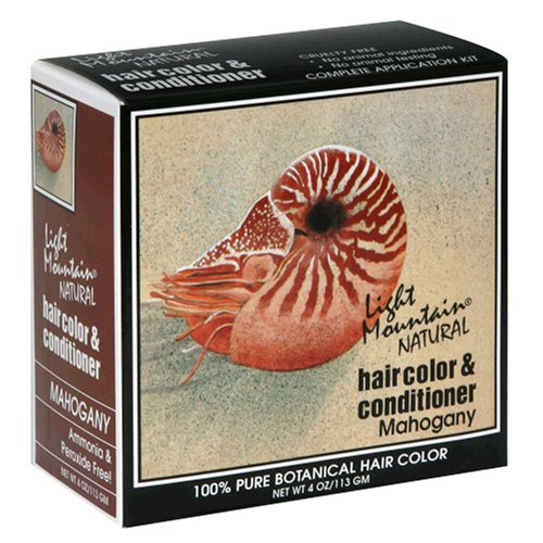 Light Mountain Natural Hair Color Mahogany 4 Conditioner Free Shipping New 100% quality warranty! oz