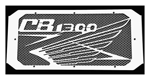 Kühlerverkleidung/Kühlerabdeckung für Honda CB1300 Super Four et CB1300 S 2003 >2013 design «Wing» + weißes Schutzgitter