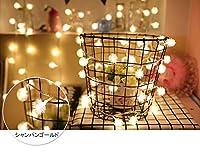 LEDイルミネーションライト 100球10m 電池式 インテリアライト ストリングライト クリスマス 飾り 防水 屋外対応 8つ点灯パターン (シャンパンゴールド)