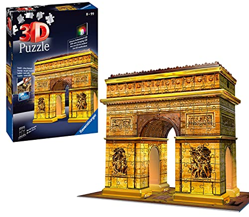 Ravensburger 3D Puzzle 12522 - Triumphbogen bei Nacht - 216 Teile